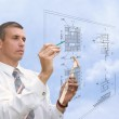 Designing technology in construction — Stock Photo #4089256