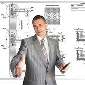 The professional architect — Stock Photo
