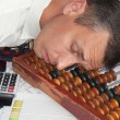 The sleeping engineer-smetchik — Stock Photo #4292395