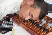 The sleeping engineer-smetchik — Stock Photo