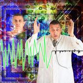 Doctors behind work — Stock Photo