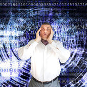 Breaking of information system — Stock Photo