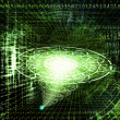 Stock Photo: The cosmic technology Internet