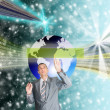 The highest the technology Internet — Stock Photo