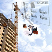 The newest building technologies — Stock Photo