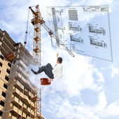 As mais recentes tecnologias de construção — Foto Stock