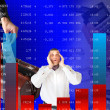 Stock Photo: Falling of quoted indexes