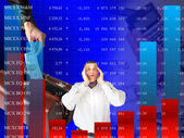 Falling of quoted indexes — Stock Photo