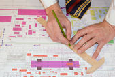 Expert kontroll av projektet engineering — Stockfoto