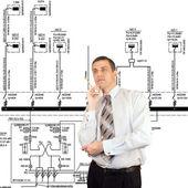 вдумчивый инженер — Стоковое фото