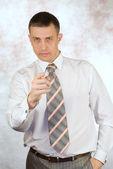 серьезный бизнесмен — Стоковое фото