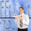 Thoughtful engineer — Stock Photo