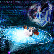 Stock Photo: Cosmic technology Internet
