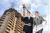 Stavební projektování — Stock fotografie