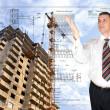 Engineering designing of residential buildings — Stock Photo #4776544
