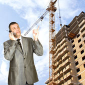 Engineering designing of residential buildings — Stock Photo