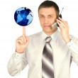 Mobile cellular communication — Stock Photo