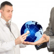 Health of the population of globe in our hands — Stock Photo