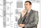 The engineer-designer — Stock Photo