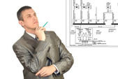 The engineer-designer — Stock Photo