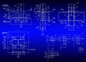 Construction plan of metal designs — Foto Stock