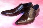 Elegant model of man's footwear — Stock Photo