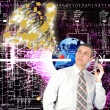 Royalty-Free Stock Photo: The cosmic technology Internet