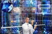 As mais recentes tecnologias de internet — Foto Stock