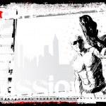 Gunner poster — Stock Vector #3943099