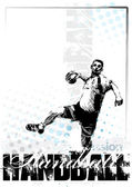 Handball poster — Stock Vector