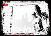 Gunner poster — Stock Vector