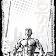Bodybuilder poster 2 - Stock Vector