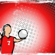Stock vektor: Red volleyball background 2