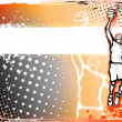 Stock Vector: Basketball byckground