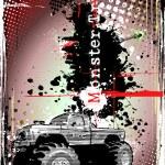 Monster truck frame — Stock Vector