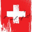 Royalty-Free Stock Imagen vectorial: Poster of switzerland