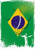 Brazil poster — Stock Vector