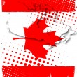 Stock Vector: Poster of canada