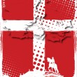 Poster of denmark — Stock Vector