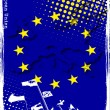 cartel de la UE — Vector de stock