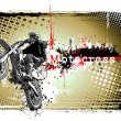 Motocross poster — Stock Vector