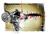 Cartel de motocross — Vector de stock