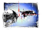 Ice hockey helmet frame — Stock Vector
