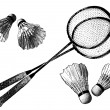 Royalty-Free Stock Vector Image: Badminton equipment