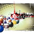 Vector de stock : Billiards frame
