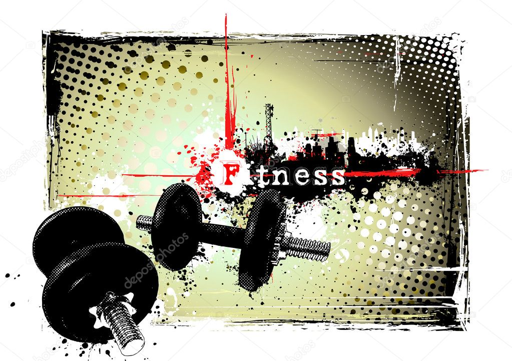 Gym poster stock vector ranker666 4901012 for Posters para gimnasios