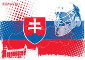 Ice hockey championship slovakia 2011 — Stock Vector