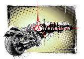 Adrenaline motorbikebike poster — Stock Vector