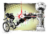 Adrenaline bike poster — Stock Vector