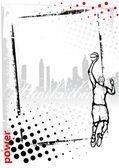 Basketball poster — Stock Vector
